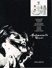 PUBLICITE ADVERTISING  1969   NINA RICCI  parfum  MADEMOISELLE