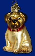Dog Ornament Pug Glass Old World Christmas 12149 5