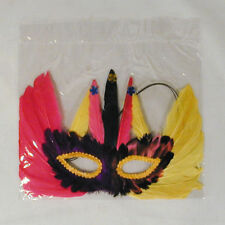 6 Feather Mardi Gra Masks costume mask party supplies Dressup Mask mens womens