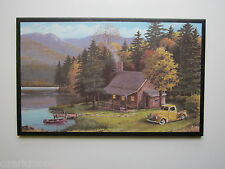 Cabin Sign Rustic Country Lodge style plaque wall decor antique vintage truck