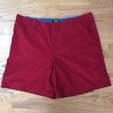 Eddie Bauer Womens Sz 16 Vashon Fit Cranberry Red Tab 100% Cotton Casual Shorts