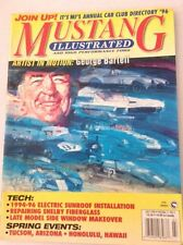 Mustang Illustrated Magazine George Bartell Sunroofs July 1996 041217nonrh