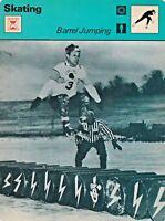 1978 Sportscaster Card Skating Barrel Jumping # 24-10 NRMINT.