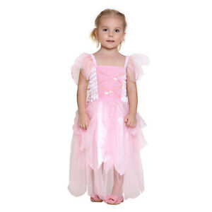 Girls Princess Pixie Butterfly Fairy Wing Dress Party Wedding Kids Costume