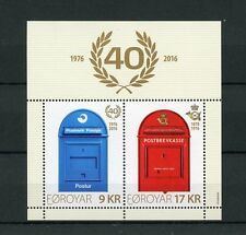 Faroe Islands 2016 Mnh Postverk Foroya 2v M/S Post Boxes Mail Services Stamps