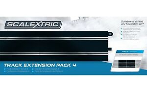 Scalextric C8526 Track Extension Pack 4 for 1:32 slot car track