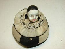 Vintage Half Doll Clown Pin Cushion - SEE PHOTOS