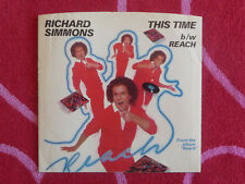 RICHARD SIMMONS This Time 45 rpm PICTURE SLEEVE ONLY Elektra 1982 Novelty Pop