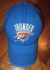 NBA Oklahoma City Thunder Mens Baseball Cap, Hat, Adidas, Blue, Size S/M, NEW