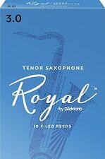 Rico Royal Tenor Saxophone Reeds #3.0 (10-Pack) NEW rkb1030 - Ten Reeds