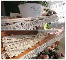 Wholesale LOT~9Y Vintage Style Handmade Battenburg Lace Trim/Edging~Beige/Ecru~