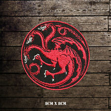 Game Of Thrones House Targaryen Embroidered Iron On Sew On Patch Badge