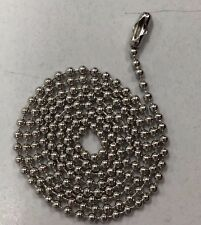 "1000 Ball Chains Nickel 30"" inch #3 Dog tag Bead Chain"