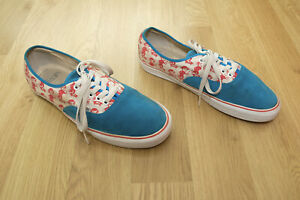 VANS Classic Red & Blue Suede 'Skating Monkey' Trainers - UK10 US11 EU44 - VGC