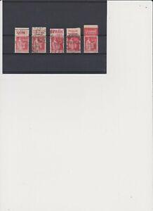 Lot de 5 timbres de France avec bande publicitaire pour spécialiste voir scan