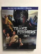 Transformers: The Last Knight (Blu-ray/3D Blu-ray, digital HD) NEW w/slipcover