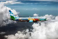 ALASKA AIRLINES 737-800 SPIRIT OF THE ISLANDS 8x12 SILVER HALIDE PHOTO PRINT
