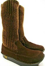 Alegria Women Boots Socks Upper Leather Brown Size 9.5 Euro 40 Style SIE-932