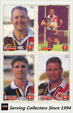 1995 Dynamic Rugby League Series 1 Cards Base Team Set Western Red(9)