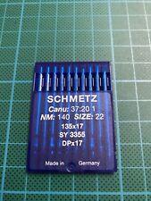 10 Aiguilles Schmetz Taille 140/22 Machine à Coudre Industrielle Tissus Lourds