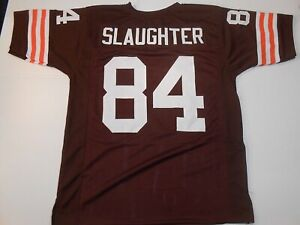 UNSIGNED CUSTOM Sewn Stitched Webster Slaughter Brown Jersey - 3XL