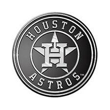 Houston Astros Silver Auto Emblem [NEW] Car Decal Sticker Cling MLB CDG
