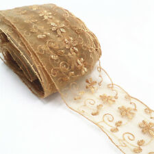 Vintage Floral Lace Trim Edge Embroidered Ribbon Fabric Sewing Decor Crafts 1yd