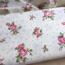 Roses with spots on Cream 100% Cotton Fabric 1/2 meter