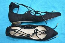 Therapy Trendy Lace-up EZARD BLACK Faux Suede SHOES Size 8. NEW RRP $59.95