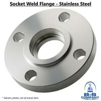 """Socket Weld Flange 1-1/2"""" 150 Raised Face S/80 Stainless Steel 304/304L A/SA182"""