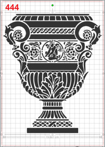 Majestic Large Greek Vase Stencil MYLAR A4 sheet strong reusable Art Craft Deco