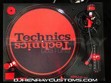1 custom metallic black Technics SL1200 mk5's w red leds halos & red accents
