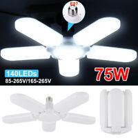 Deformable E27 4/5 Blades LED Garage Lights Work Shop Ceiling Light Fixture Lamp
