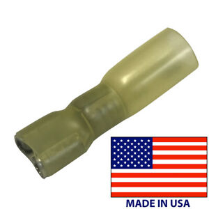 (10) 8 Gauge Heat Shrink Female Quick Disconnect .250 Wire Terminal Connector