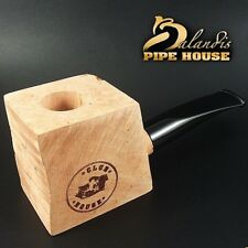 CLUB HOUSE Tobacco Pipe Briar Wood Block new HBB - Pre Drilled Beginner DIY Kit