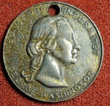 GEORGE WASHINGTON 1789-1797 1st PRESIDENT USA HOLED COIN TOKEN MEDAL