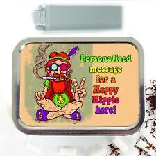 Smoking Hippy Spliff Weed 2oz Tobacco Tin Baccy Storage Case Personalised ST035