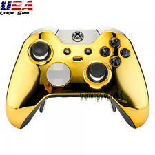 Custom Chrome Gold Replacement Top Shell for Xbox One Elite Remote Controller