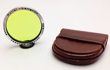 ROLLEI 38mm Bay 3 III Coated AR Anti-reflective LIGHT GREEN Filter Leather Case