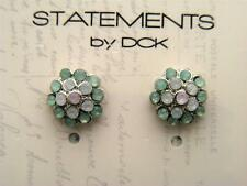 $10 Statements by DCK Green & White Tiny Rhinestone Dome Post Stud Earrings