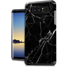 For Samsung Galaxy NOTE 8 Hard Rubber Hybrid Armor Skin Case Cover Black Marble