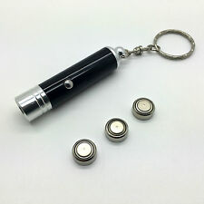 LED Tough Quality Pocket Lightweight Torch Light Keyring Batteries Included