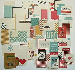 PROJECT LIFE   [Kraft]  Core Kit Cards  (60 cards)