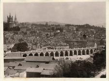 Suisse, Lausanne, vue générale de la ville  Vintage print,  Photomécanique