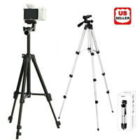"""41"""" 360° Pro Camera Tripod Stand Holder Mount Kit for iPhone Samsung Cell Phone"""