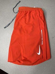 "Nike Flex Stride 7"" Brief-Lined Mens Running Shorts Size L Orange AJ7779-891 NEW"