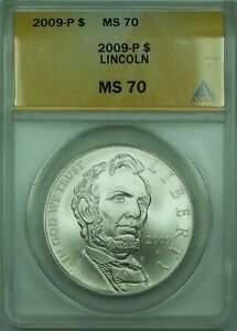 2009-P Lincoln S$1 Silver Dollar ANACS MS-70