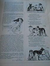 L'exposition des Chiens  Ballet Russes Nijinski Dieu Bleu Print Humour 1912