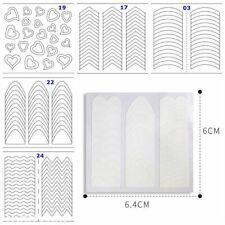 New 5 sheets French Manicure Nail Art Tips Form Guide Sticker DIY Stencil