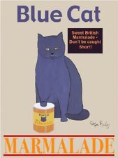 Blue Cat Marmalade by Ken Bailey Signs Print 8x10